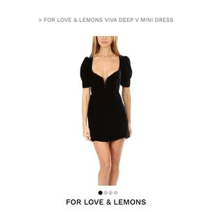 For Love and Lemons Viva Deep V Mini